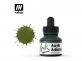 Vallejo Acrylic Artist Ink 60014 Olive Green (30ml)