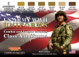 Set kamuflážních barev LifeColor CS17 WWII US ARMY UNIFORMS SET1 Combat and fatigue clothing Class A uniforms