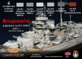 Set kamuflážních barev LifeColor CS09 GERMAN NAVY WWII SET1 Kriegsmarine