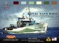 Set kamuflážních barev LifeColor CS34 ROYAL NAVY WWII set 2