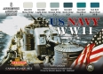 Set kamuflážních barev LifeColor CS24 US NAVY WII SET1