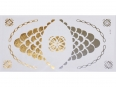 Gold Silver | Metallic Jewelry Flash Tattoo stickers sheet W-081 size 21x11cm