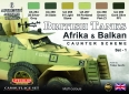 Set kamuflážních barev LifeColor CS43 British Tanks Afrika & Balkan