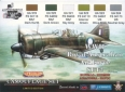 Set kamuflážních barev LifeColor XS02 WII Royal Australian Air Force SET2