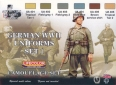 Set kamuflážních barev LifeColor CS04 GERMAN WWII UNIFORMS SET1