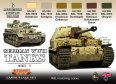 Set kamuflážních barev LifeColor CS01 GERMAN WWII TANKS SET1
