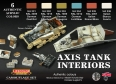 Set kamuflážních barev LifeColor CS22 AXIS TANK INTERIORS