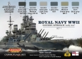 Set kamuflážních barev LifeColor CS33 ROYAL NAVY WWII set 1
