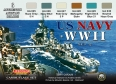 Set kamuflážních barev LifeColor CS25 US NAVY WII SET2