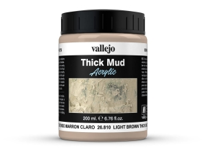 Vallejo Diorama Effects 26810 Light Brown Thick Mud  (200ml)