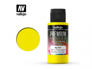 Barva Vallejo PREMIUM Color 62031 Fluorescent Yellow (60ml)