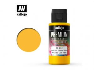 Barva Vallejo PREMIUM Color 62032 Fluorescent Gondel Yellow (60ml)