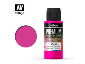Barva Vallejo PREMIUM Color 62036 Fluorescent Magenta (60ml)