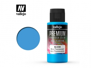 Barva Vallejo PREMIUM Color 62038 Fluorescent Blue (60ml)