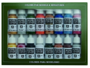 Vallejo Model Color 16 color Set 70101 Folkstone Basics (16)