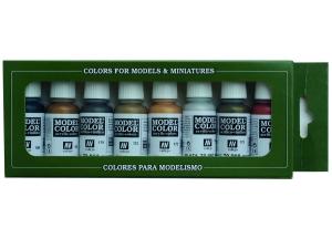 Vallejo Model Color 8 colors Set 70118 Metallic Colors (8)