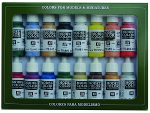 Vallejo Model Color 16 color Set 70140 Basic Colors Usa (16)