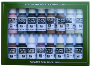 Vallejo Model Color 16 color Set 70144 Equestrian Colors (16)