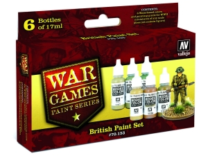 Vallejo Model Color Wargame Set 70153 British (6)