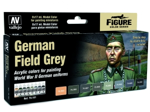 Vallejo Model Color Uniforms Set 70181 German Field Grey Uniform (8) by Jaume Ortiz