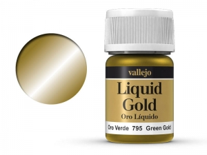 Barva Vallejo Liquid Gold 70795 Green Gold (Alcohol Based) (35ml)