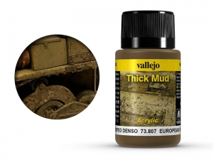 Vallejo Weathering Effects 73807 European Thick Mud (40ml)