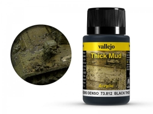 Vallejo Weathering Effects 73812 Black Thick Mud (40ml)