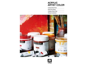 Vallejo CC015 Color Chart: Acrylic Artist Color