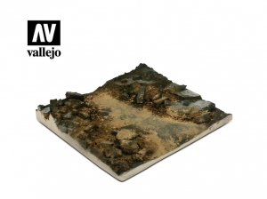 Vallejo Scenics SC002 Rubble Street Section (14x14 cm)