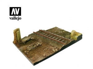 Vallejo Scenics SC104 Country Road Cross with Railway section (31x21 cm)