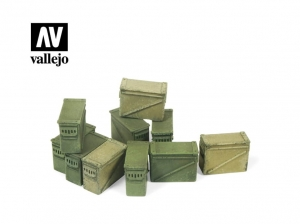 Vallejo Scenics SC221 Large Ammo Boxes 12,7 mm