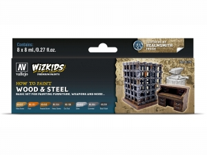 Wizkids Premium set by Vallejo: 80256 Wood & Steel
