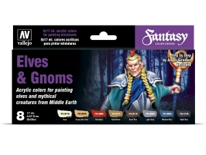 Vallejo Fantasy Set 70242 Elves and Gnoms (8)