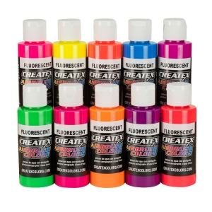 Createx 115817 - 10 Color Fluorescent Set 60ml
