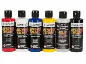 Auto-Air Colors 049630 - Transparent Colors 6-Pack Set 120 ml