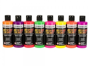 Auto-Air Colors 049501 - Fluorescent Colors 8-Pack Set 120 ml