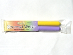 AmeriColor 2x Jedlý Fix GOURMET WRITERS Food Pen (Easter set) - Purple+Yellow